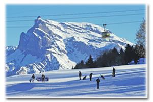 Megève : parcours de golf sur neige