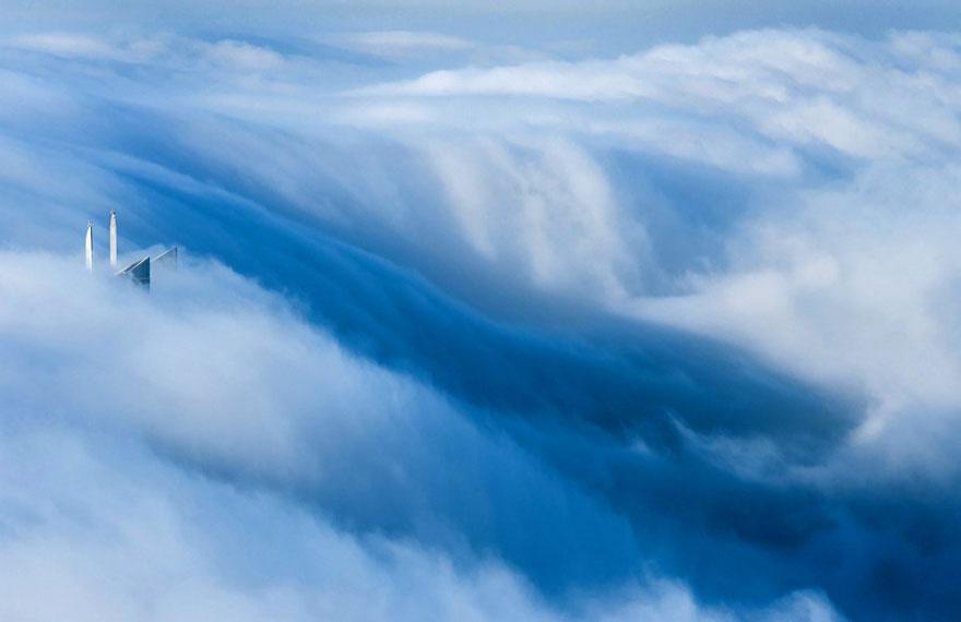 Les photos incroyables de Dubaï dans les nuages