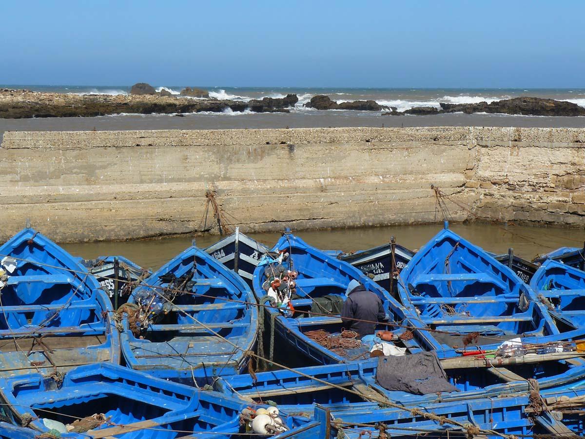 Barques à Essaouira