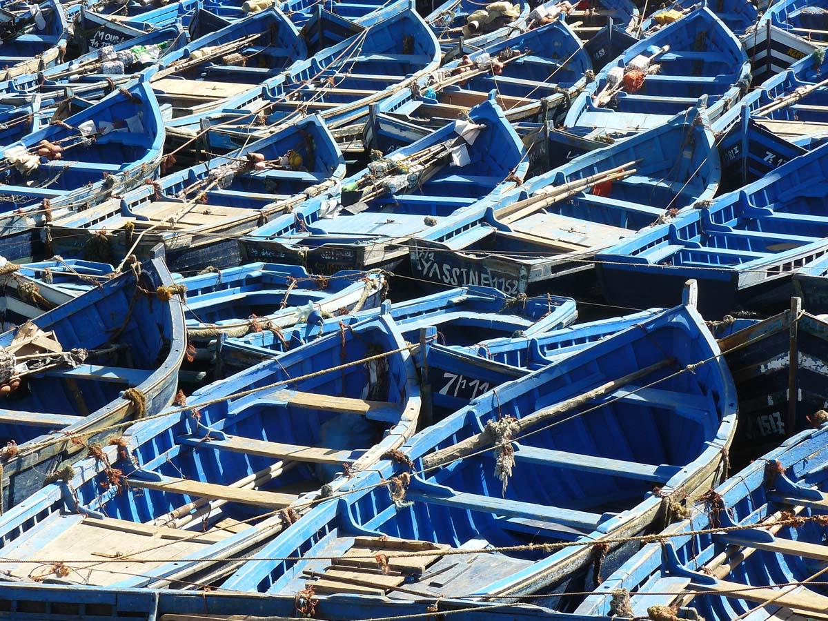 Bateaux de peche à Essaouira