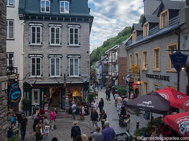 Quartier Petit Champlain à Quebec
