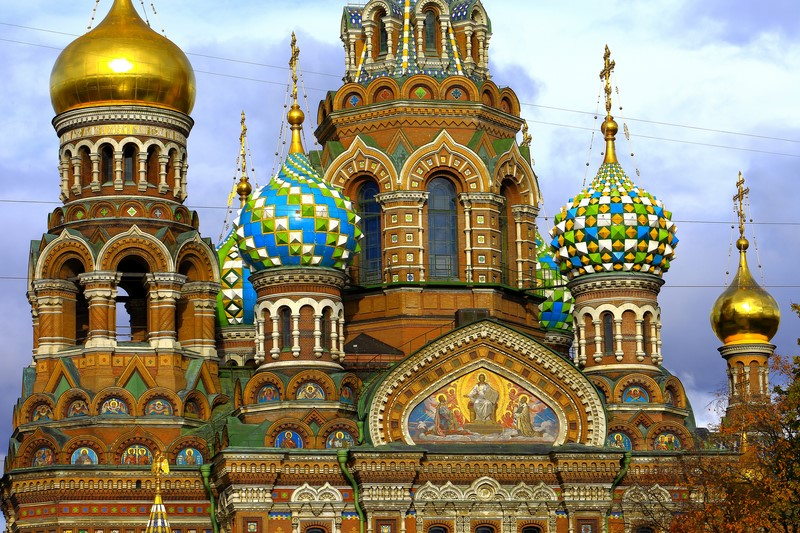Cathédrale Saint-Sauveur-sur-le-Sang-Versé de Saint Pétersbourg (Russie)