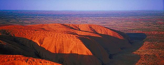 Paysage désertique de l'outback australien