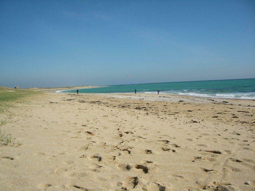 La plage de Plouhinec labellisé Pavillon Bleu