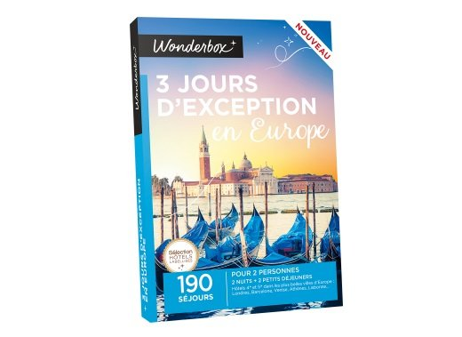 Wonderbox 3 jours d'exception en Europe
