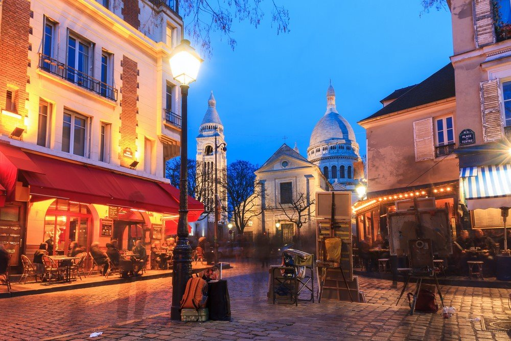 Paris, place du Tertre