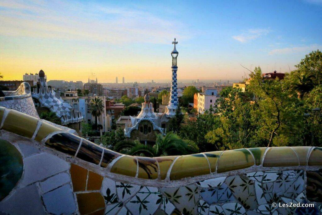 Le Parc Güell par Antoni Gaudi