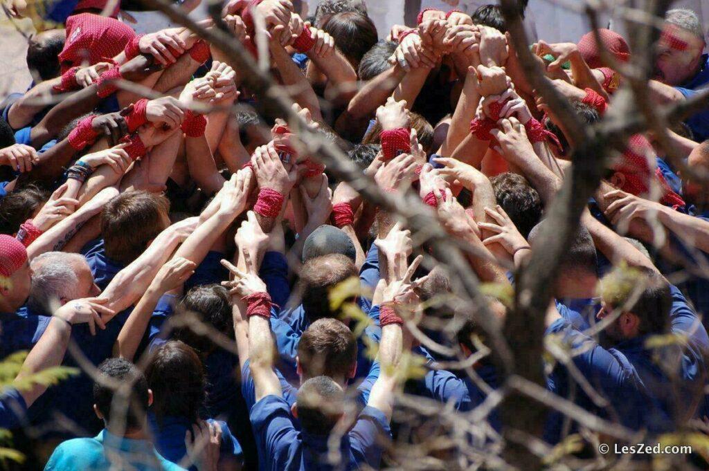 Les castellers à Barcelone