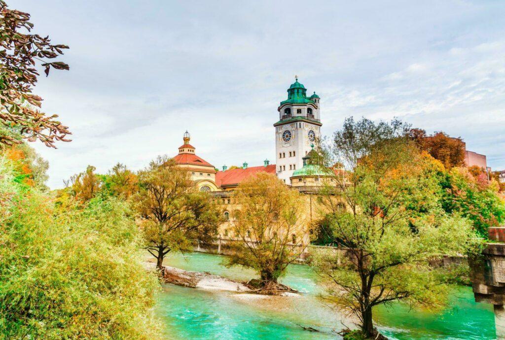Munich fleuve Isar