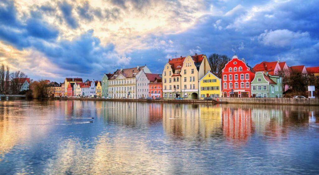 Munich maisons allemandes colorees