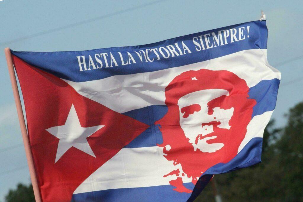 Cuba drapeau avec Che Guevara