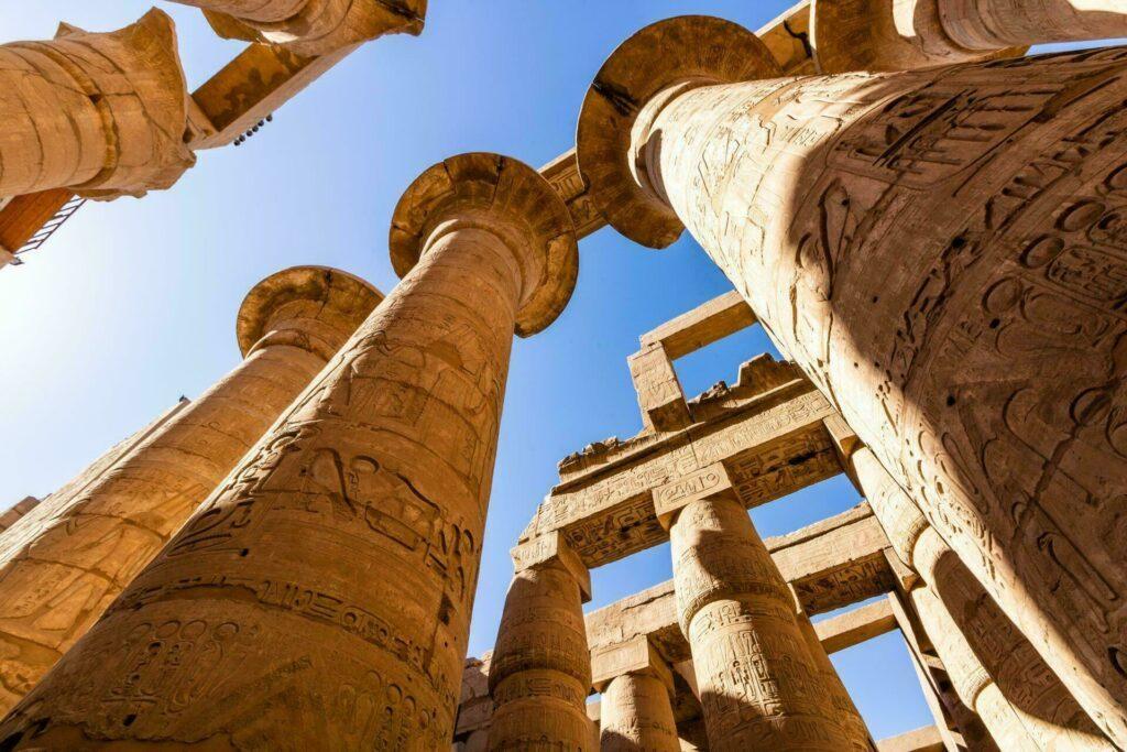 Egypte ruines temple Karnak Louxor