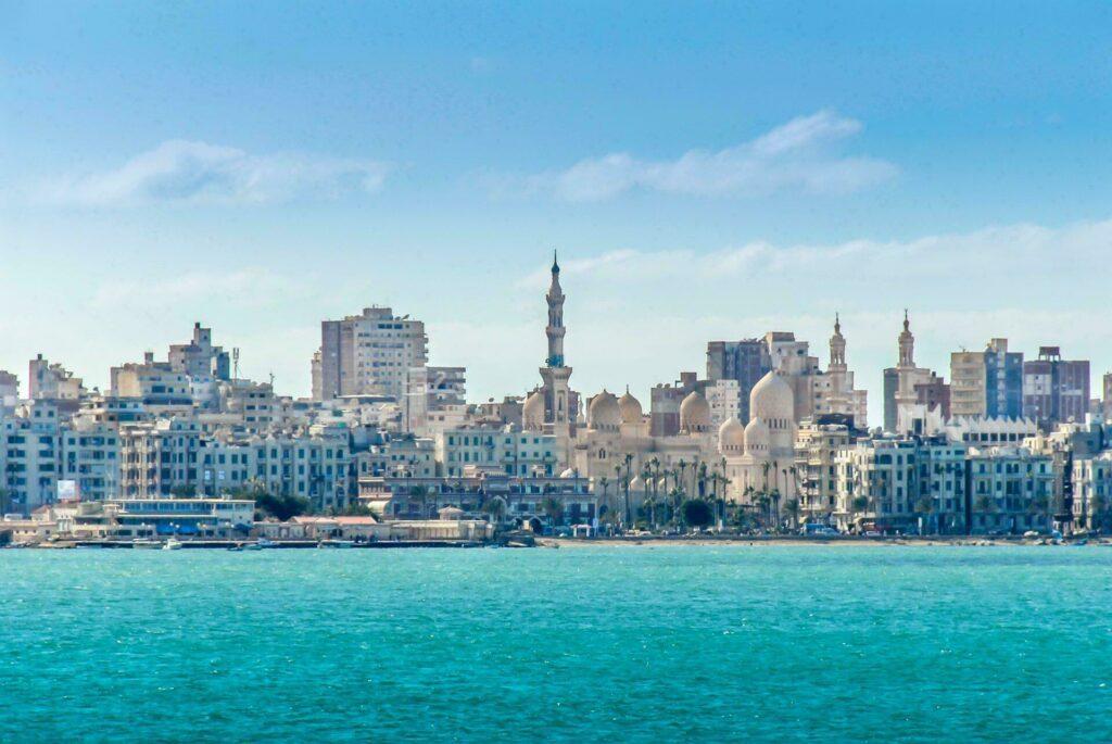 Egypte ville port Alexandrie