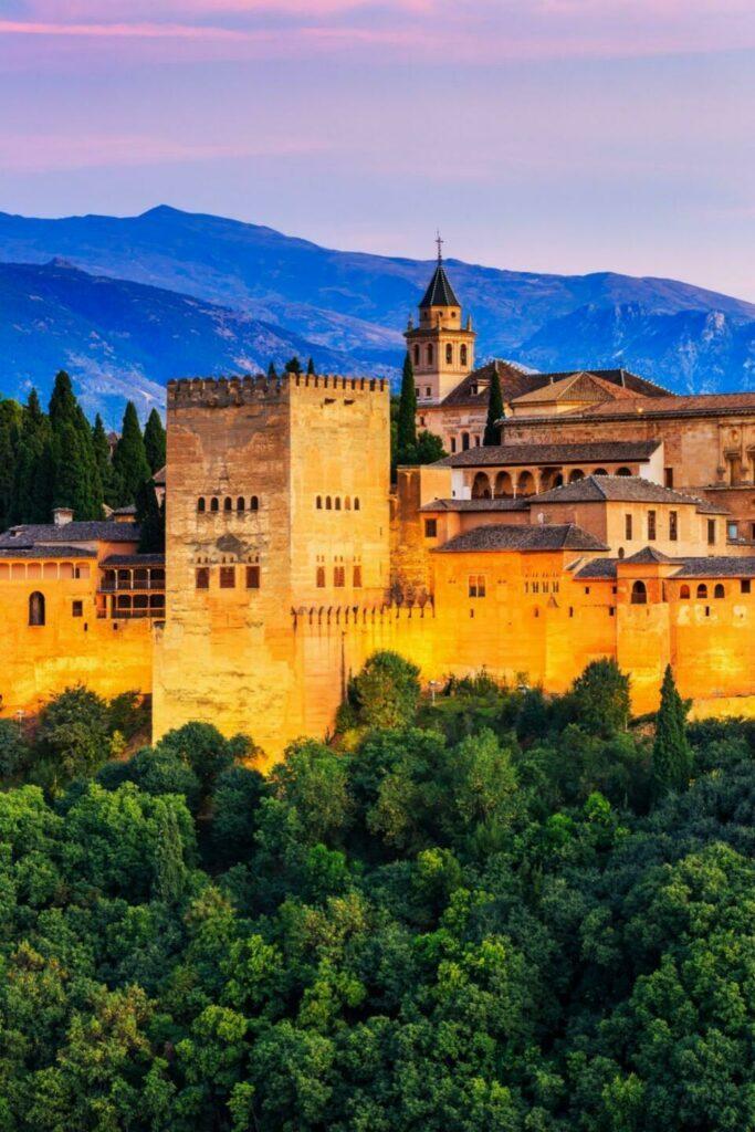 Alhambra à Grenade (Andalousie)