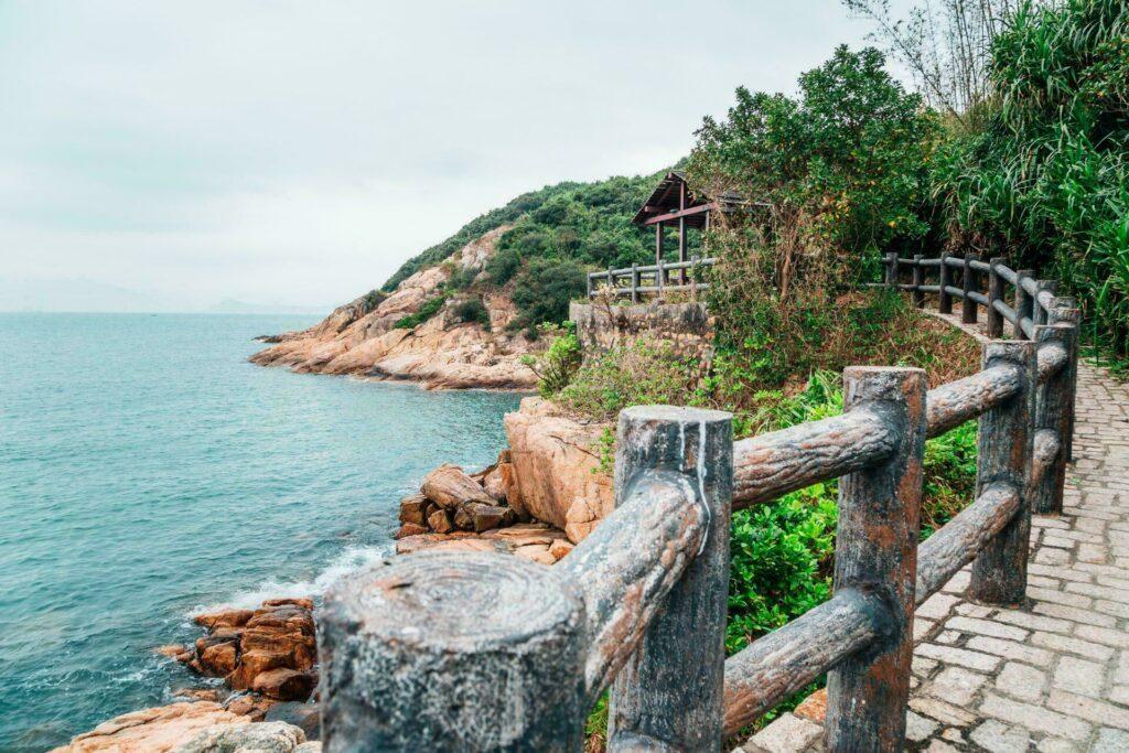 Hong Kong ile de Cheung Chau sentier de rando