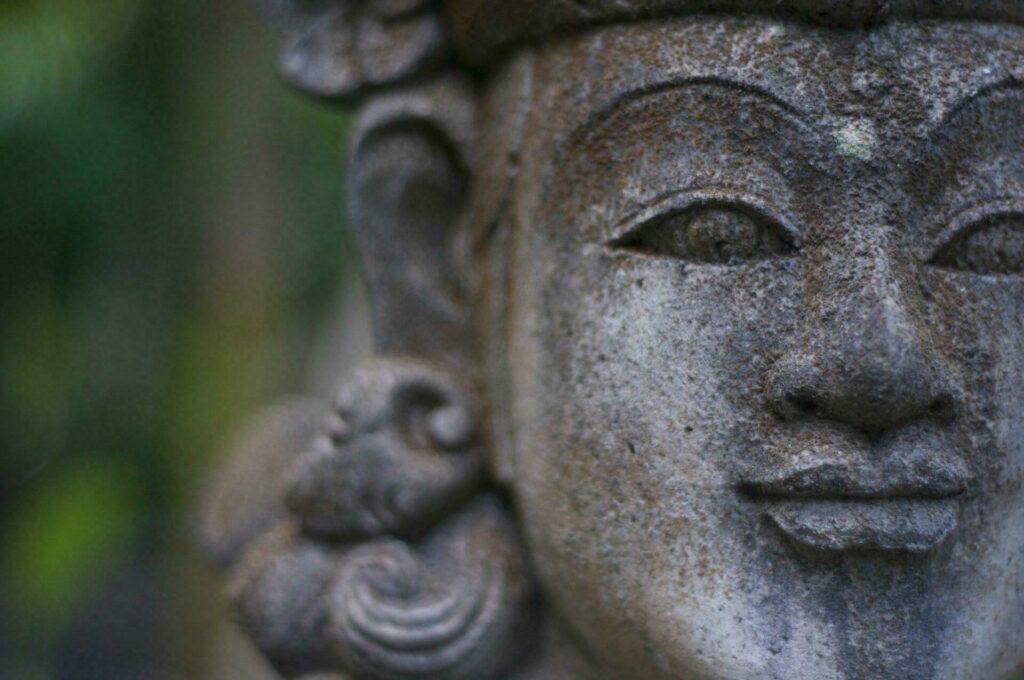 Statue au musée Agung Rai à Bali