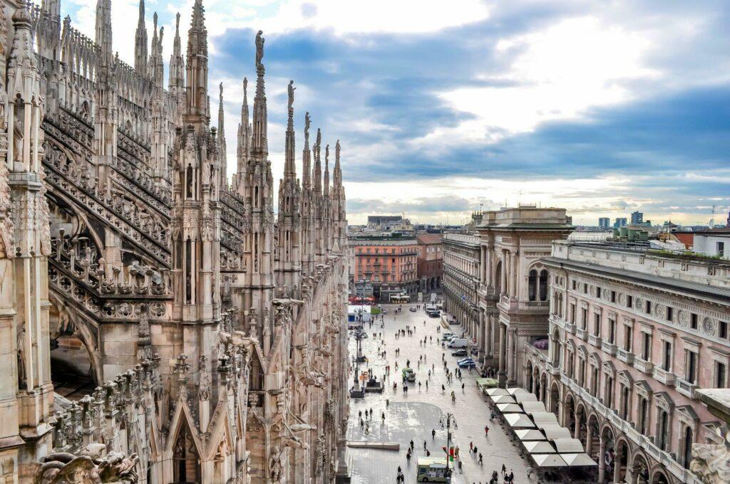La cathédrale de Milan, Italie
