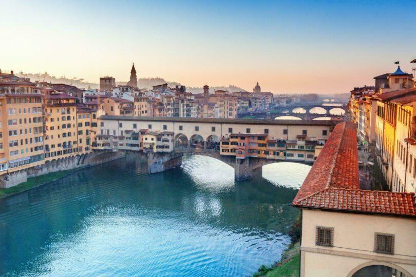 Florence Italie vue Ponte Vecchio
