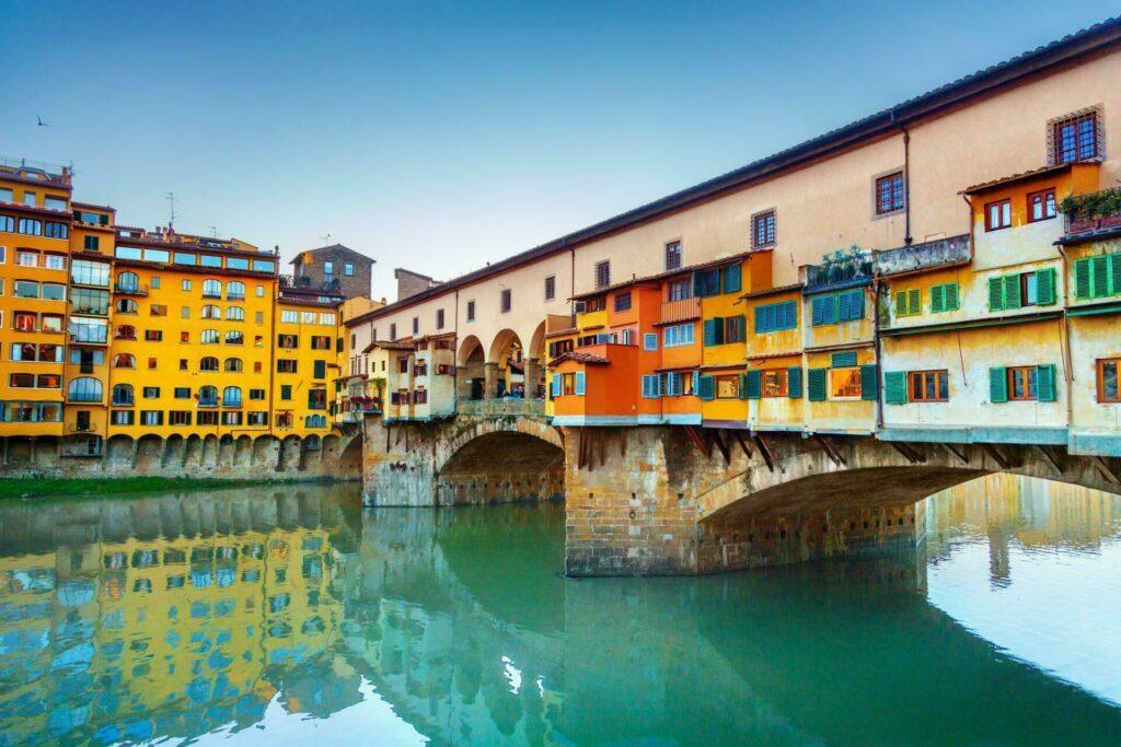 Florence Ponte Vecchio en couleurs
