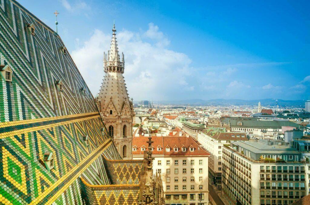 Vienne Autriche vue cathedrale Saint Etienne