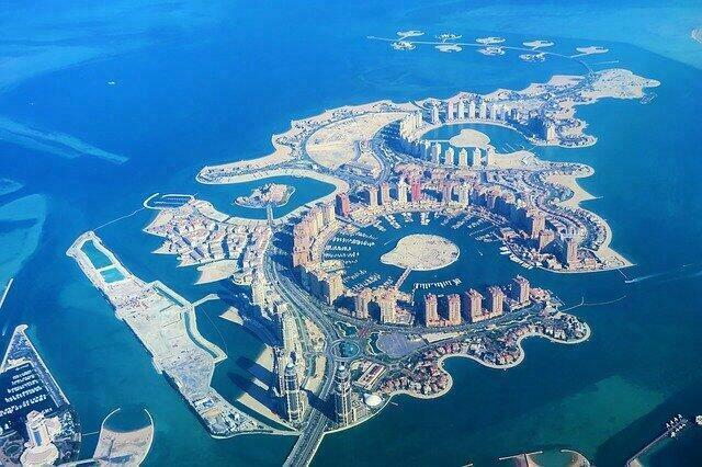 Les iles artificielles de Doha