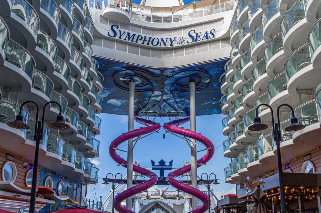 Les toboggans du Symphony of the Seas