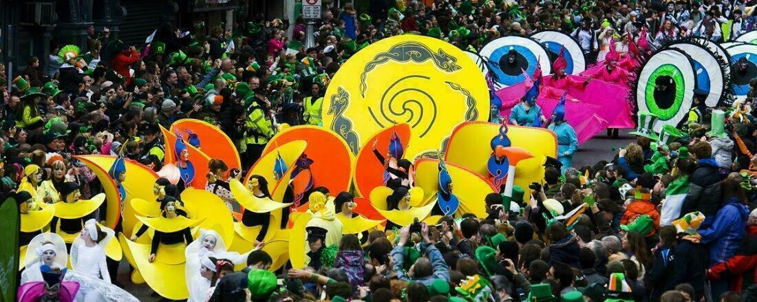 Défilé de la St Patrick en Irlande