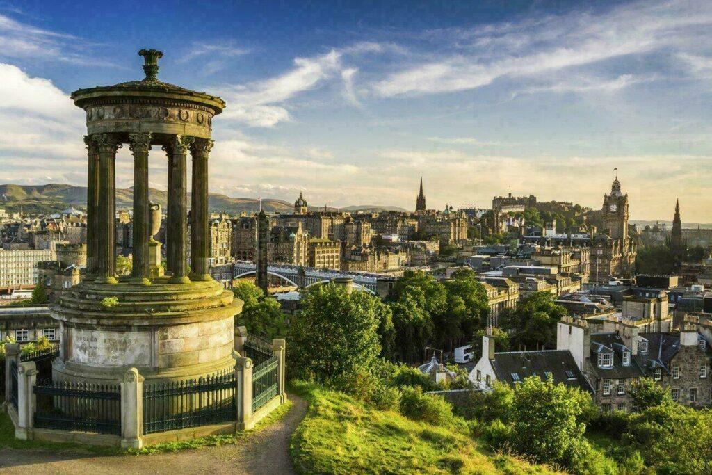Vue sur Edimbourg, des températures parfaites au mois d'août.