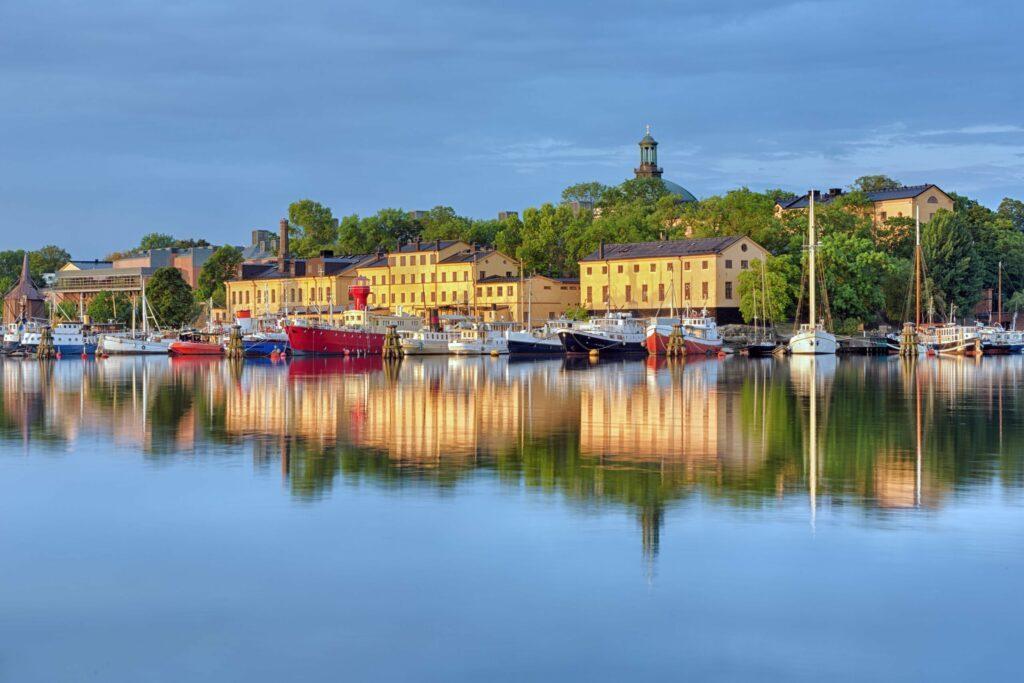 L'île de Skeppsholmen en été