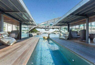 Hôtel flottant à Paris avec vue sur Seine