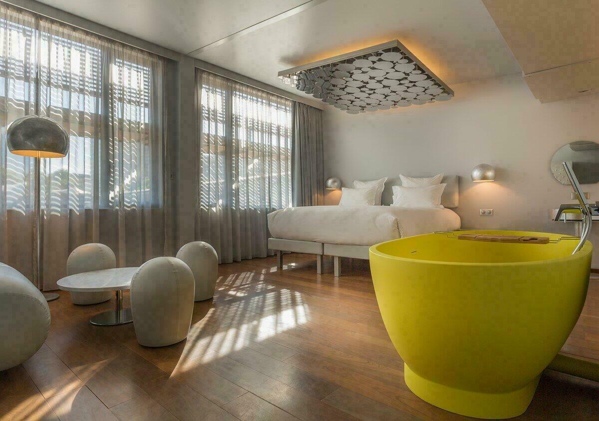 Chambre de l'hôtel flottant Off Paris Seine