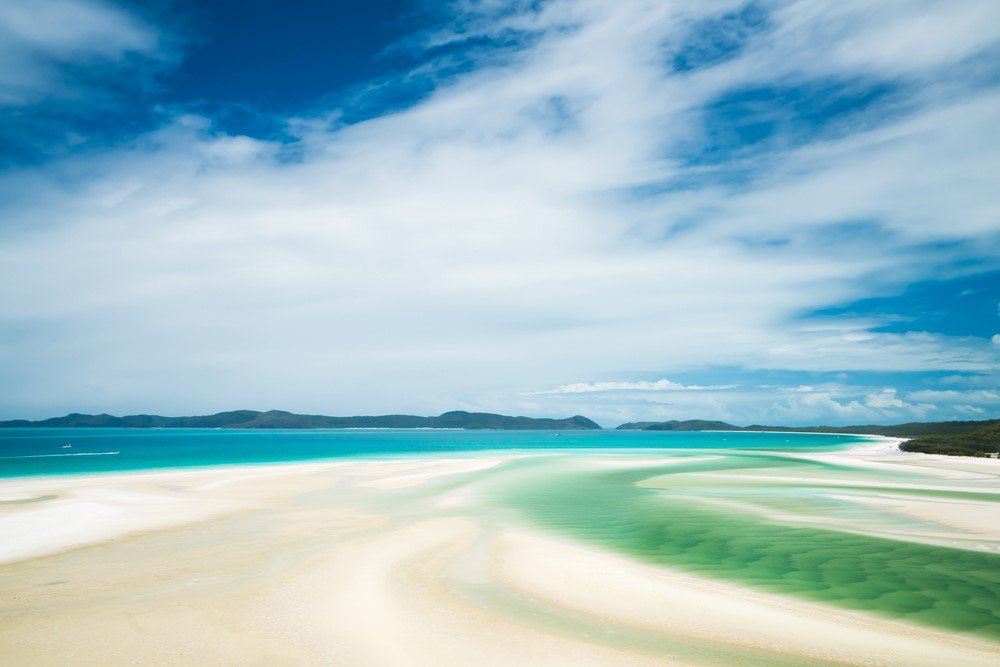 Le sable blanc de Whitehaven Beach