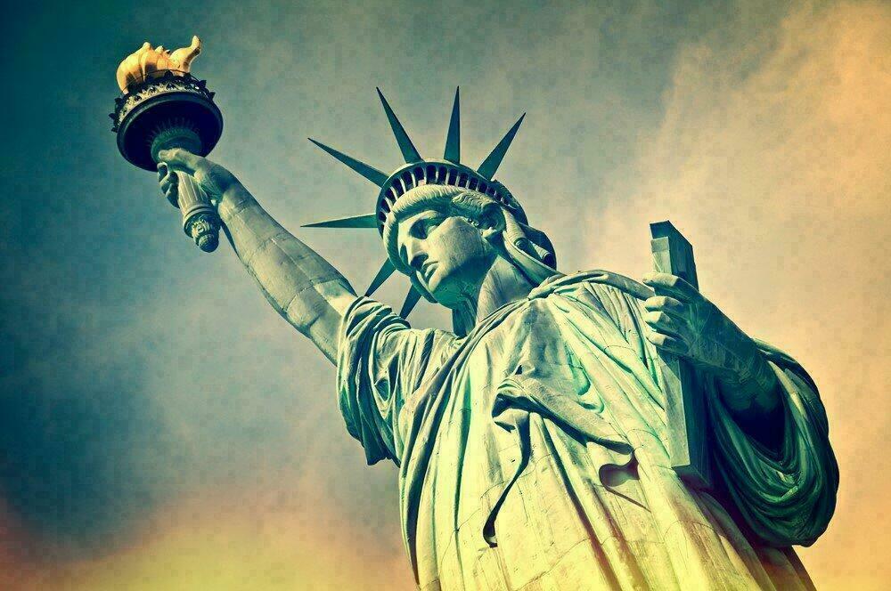 Gros plan sur la Statue de la Liberté