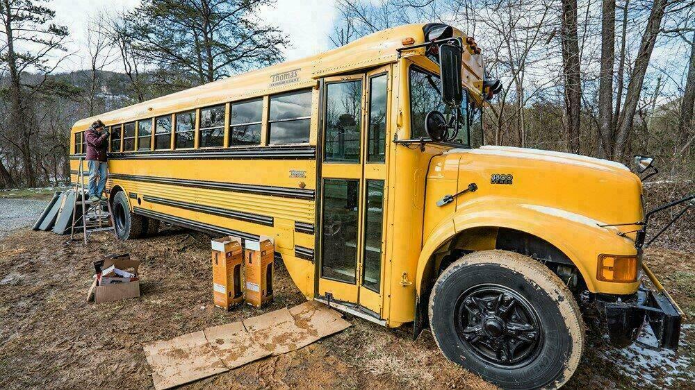 Le bus scolaire avant travaux