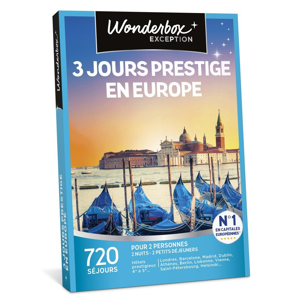 Coffret cadeau Wonderbox : 3 jours prestige en Europe