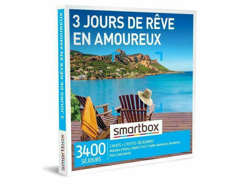 Coffret Cadeau Smartbox : 3 jours de rêve en amoureux