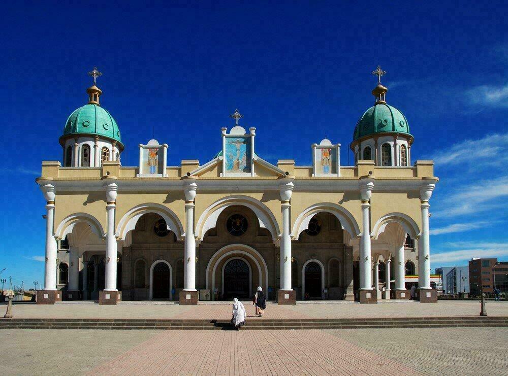 Addis-Abeba, Éthiopie - Cathédrale de Bole Medhane Alem