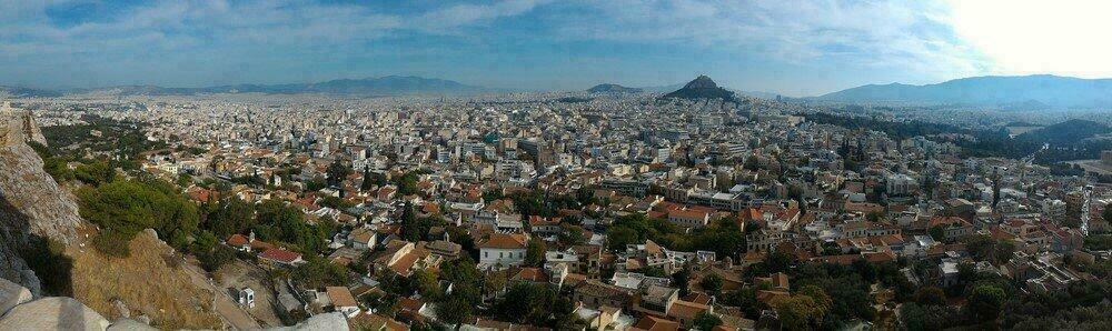 Vue sur Athènes depuis l'Acropole