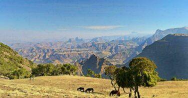 Panorama dans le parc national du Simien