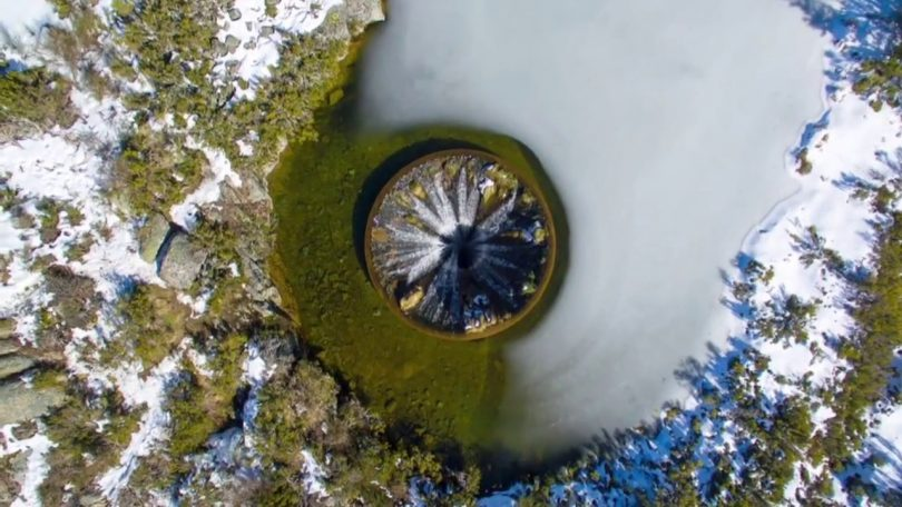 Lac Covao dos Conchos vu du ciel
