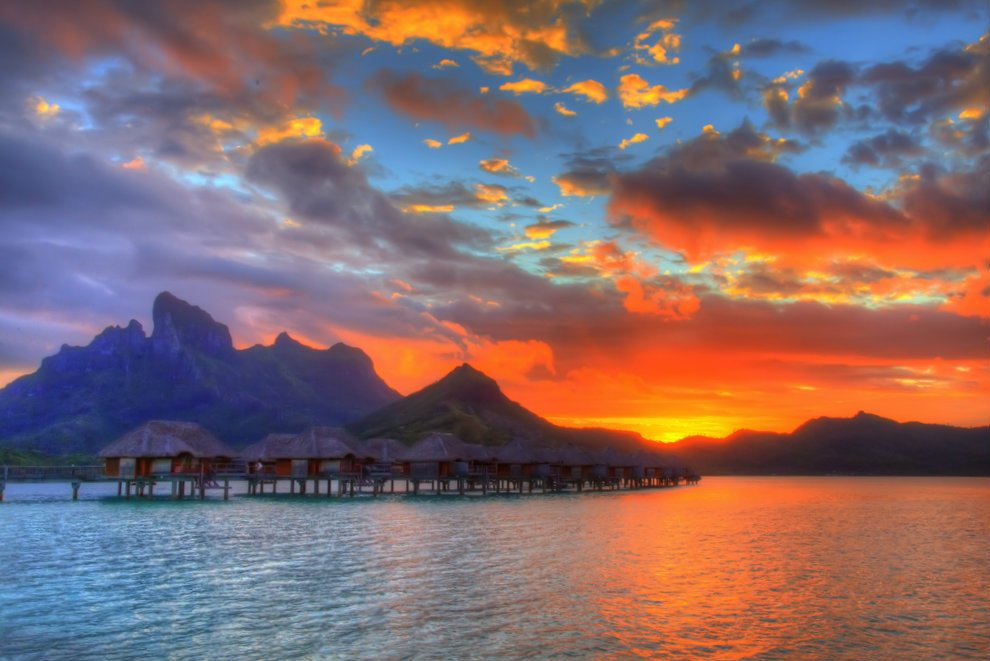 Voil pourquoi bora bora est l 39 une des plus belles les du - L heure du coucher du soleil aujourd hui ...