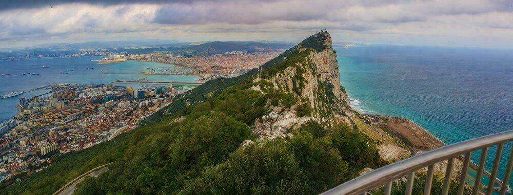 Vue du rocher de Gibraltar