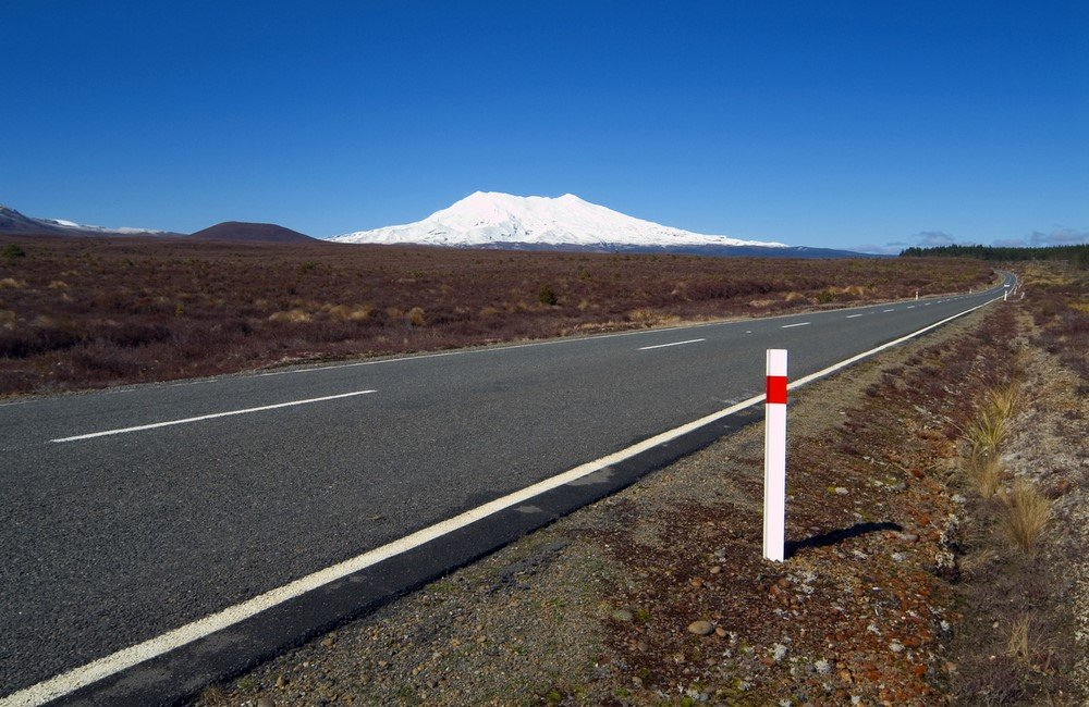 Roadside Tongariro National Park Central Plateau New Zealand