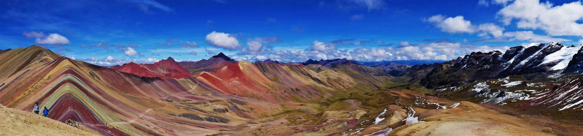Montagnes arc-en-ciel au Pérou