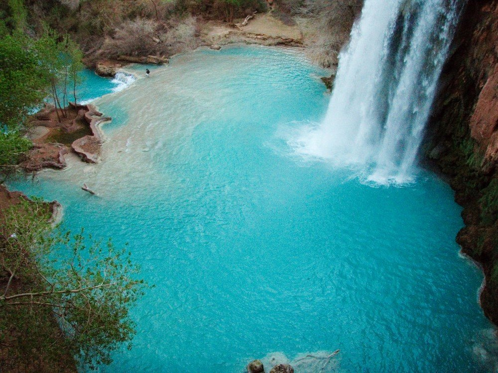 Eau turquoise des Havasu Falls