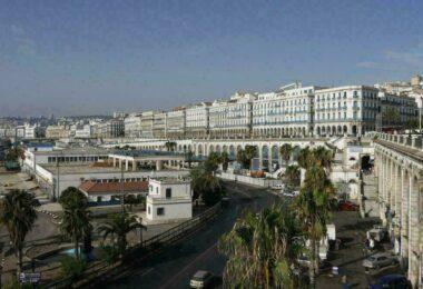 Vue sur Alger et le quartier du port