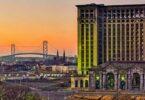 Coucher de soleil sur Detroit