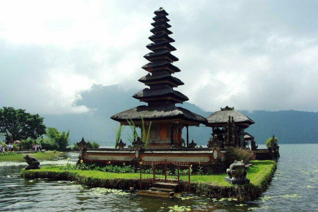 Temple à Bali, en Indonésie