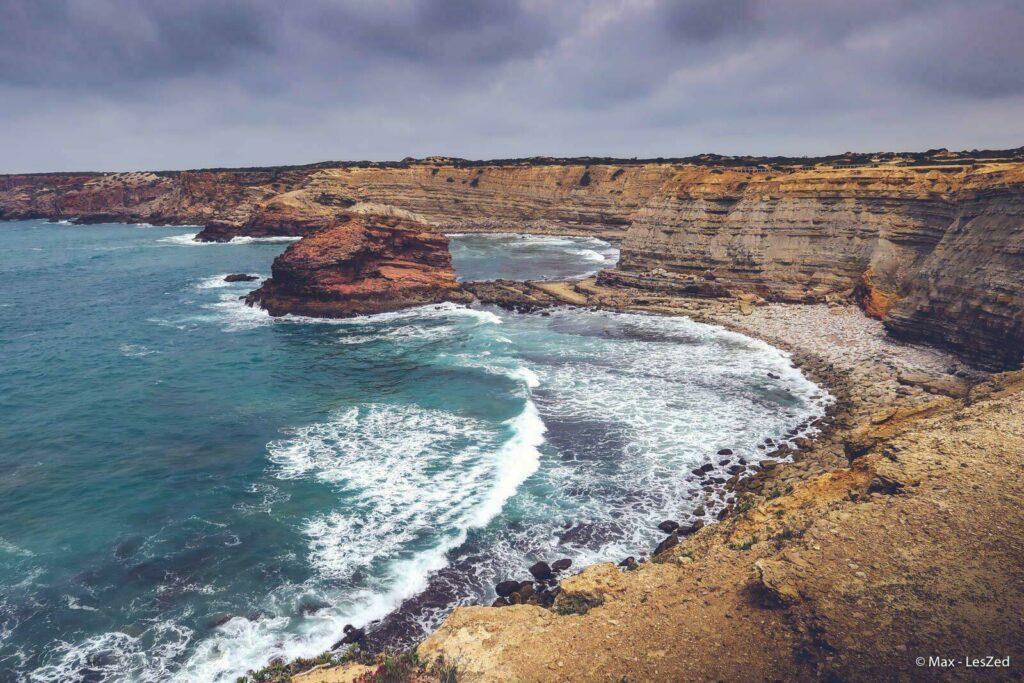 Les falaises de l'Algarve, au Portugal