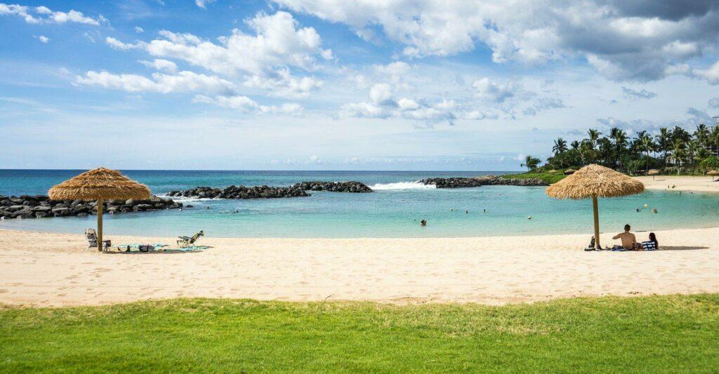 Vue d'une plage d'Hawaï